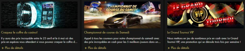 Promotions dédiées du casino virtuel