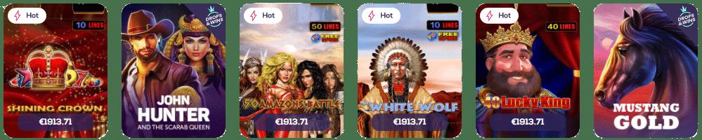 Casino Wild Fortune La collection de machines