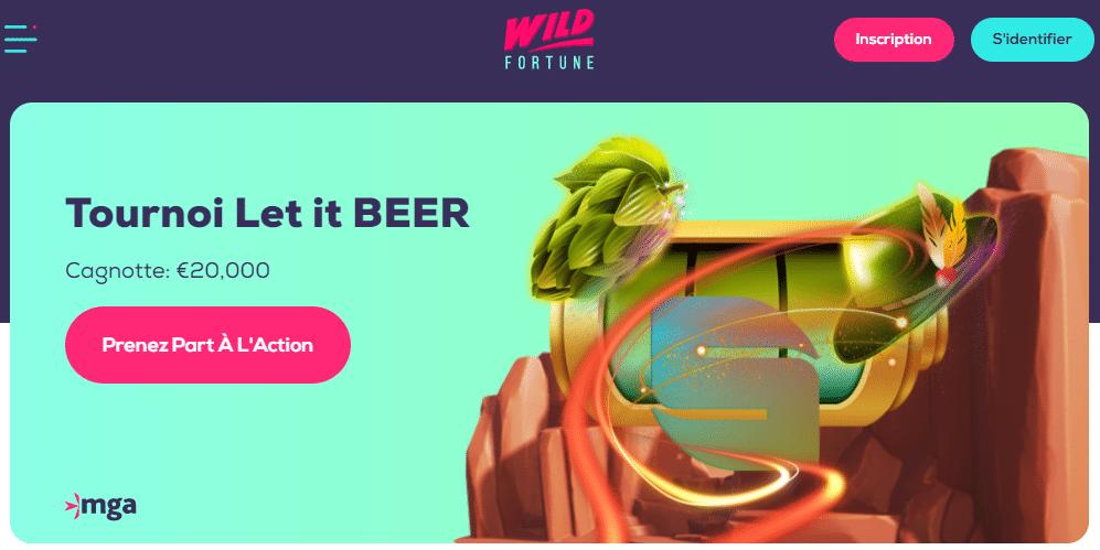 Casino Wild Fortune Page de Démarrage
